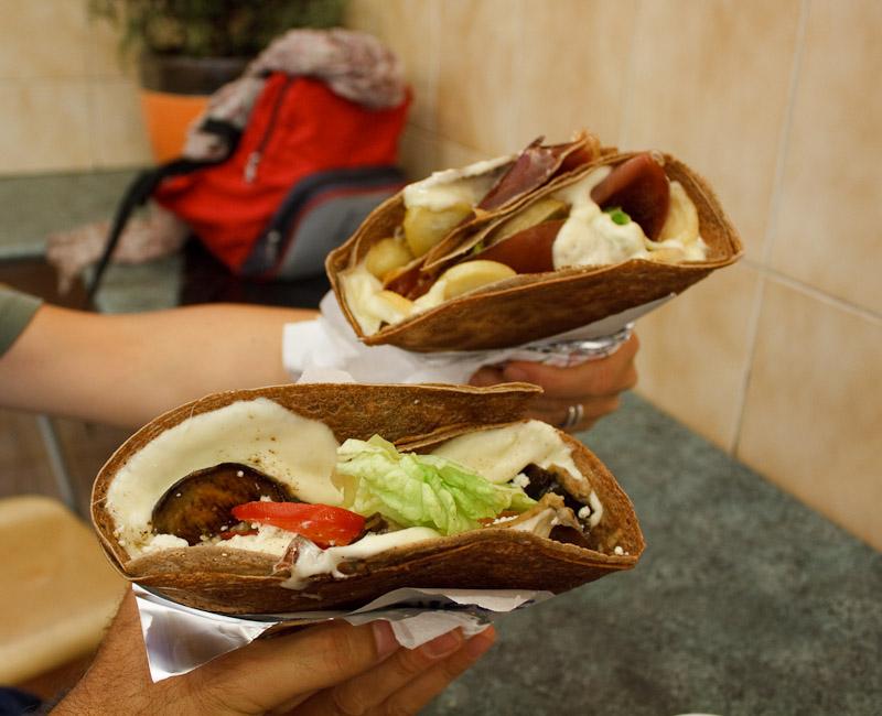 Le crepes salate di Chez Nicos