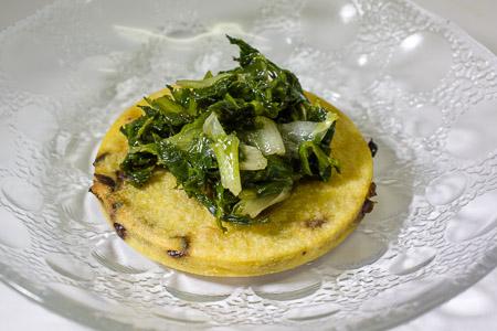 panella alle olive con scarola