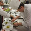 """Zuppetta di olive """"Nocellara"""" e mandorle, purea di finocchi e pesce bandiera """"anni 80"""" (Esposito)"""