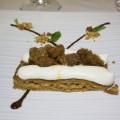 Bisquit di frutta secca con mousse di ricotta e granita di caffè al Marsala (Di Benedetto)