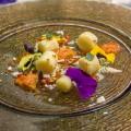 Gnocchetti con bagnacauda cremosa, pomodorini semi secchi e frutti di mare (Bowerman)